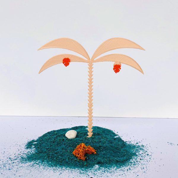 Mini monstera coral en impresión 3d